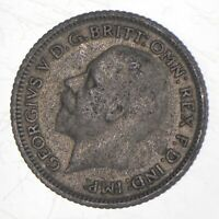 ROUGHLY THE SIZE OF A QUARTER 1929 GREAT BRITAIN 6 PENCE WOR