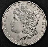 1884 MORGAN SILVER DOLLAR.  B.U.  114711  INVENTORY