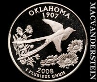 2008 S SILVER OKLAHOMA STATE QUARTER GEM PROOF LUSTER T7871