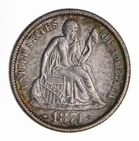 1874 SEATED LIBERTY SILVER DIME - SHARP 8456