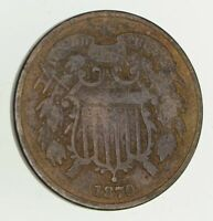 1870 TWO-CENT PIECE - CIRCULATED 9410