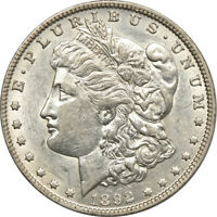1892-O MORGAN DOLLAR, ABOUT UNCIRCULATED, S$1 C00052302