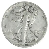 XF  1944 S WALKING LIBERTY 90  SILVER US HALF DOLLAR   NICE