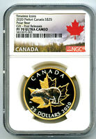 2020 $25 CANADA GILT SILVER PROOF PIEFORT NGC PF70 UCAM  POL