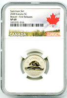 2020 CANADA 5 CENT NGC SP69 FIRST RELEASES SPECIMEN BEAVER N