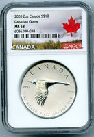 2020 $10 CANADA 2 OZ .9999 SILVER FLYING CANADIAN GOOSE NGC