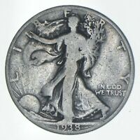 1938 D WALKING LIBERTY HALF DOLLAR   CHARLES COIN COLLECTION
