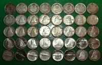 1918 1968 LOT OF 40 CANADA SILVER TEN CENTS 10 COINS   40 CA