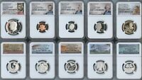 2020 S SILVER PROOF 10 COIN SET FIRST RELEASES  10PC  NGC PF