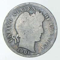 1901 S BARBER DIME   CHARLES COIN COLLECTION  767
