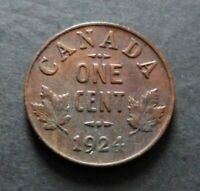 1924 CANADA 1 CENT COIN GOOD CIRCULATED CONDITION LOT18