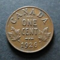 1926 CANADA 1 CENT COIN FINE CIRCULATED CONDITION LOT24