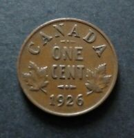1926 CANADA 1 CENT COIN FINE CIRCULATED CONDITION LOT26