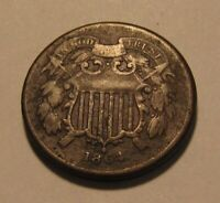 1864 TWO CENT PENNY   CIRCULATED CONDITION   146SU