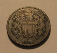 1866 TWO CENT PENNY   CIRCULATED CONDITION   148SU