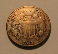 1870 TWO CENT PENNY   CIRCULATED CONDITION   150SU