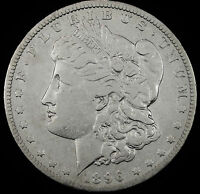 1896-O MORGAN SILVER DOLLAR.  BETTER GRADE.  65907INV.A