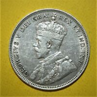 CANADA NEWFOUNDLAND 20 CENTS 1912 VERY FINE / EXTREMELY FINE