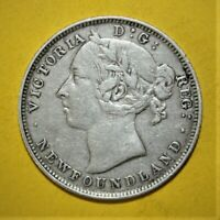 CANADA NEWFOUNDLAND 20 CENTS 1890 VERY FINE / EXTREMELY FINE