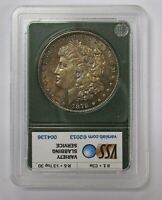1878-S  MORGAN DOLLAR VAM 1D R-5 TOP 30 VSS LINES IN TAILFEATHERS NATURAL TONING