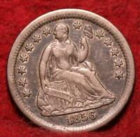 1856 O NEW ORLEANS MINT SILVER SEATED HALF DIME