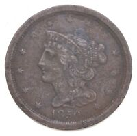 1850 BRAIDED HAIR HALF CENT   JACOBS COIN COLLECTION  553
