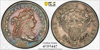 1798/7 BUST DIME PCGS VF DETAILS ECEEDINGLY  13 STARS REVERSE SHIPS FREE