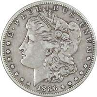 1886 S MORGAN DOLLAR VF  FINE 90 SILVER $1 US COIN COLLECTIBLE