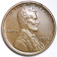 1912-S LINCOLN WHEAT SMALL CENT AU SHIPS FREE E147 RFX