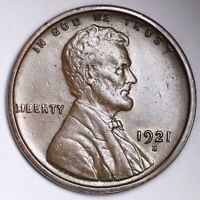 1921-S LINCOLN WHEAT SMALL CENT CHOICE AU SHIPS FREE E148 RNL