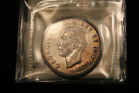 1947 DOT SILVER DOLLAR CANADA ICCS EF 45. LOOKS NICER.  COIN.