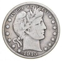 1915 BARBER HALF DOLLAR   CHARLES COIN COLLECTION  697