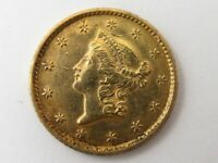 UNITED STATES 1853 G$1 ONE DOLLAR LIBERTY GOLD COIN