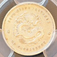 1899 CHINA CHEKIANG SILVER 5 CENT DRAGON COIN PCGS L&M 286 A