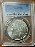 1899 O MORGAN SILVER DOLLAR PCGS MINT STATE 63  VAM-14A1 CLASHED