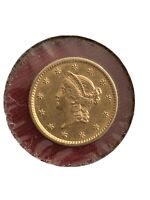 REALLY NICE 1853 US LIBERTY HEAD GOLD ONE DOLLAR COIN TYPE 1