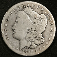 1886-S MORGAN SILVER DOLLAR.  CIRCULATED.  154408