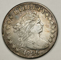 1796 DRAPED BUST DIME.  JR-6.  EXTRA FINE  DETAIL.  153281