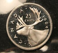 1964 CANADA SILVER 25 CENTS. PL66 HEAVY CAMEO ICCS. FLAWLESS & FROSTY.