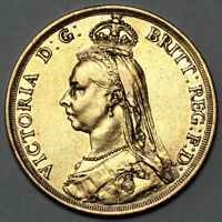1887 QUEEN VICTORIA GREAT BRITAIN GOLD TWO POUNDS 2 COIN