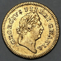 1801 KING GEORGE III GREAT BRITAIN GOLD THIRD GUINEA COIN