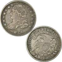 1831 CAPPED BUST DIME VF/XF FINE / LY FINE 89.24  SILVER 10C US COIN