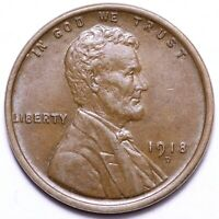 1918-D LINCOLN WHEAT SMALL CENT PENNY CHOICE UNC SHIPS FREE E224 WES