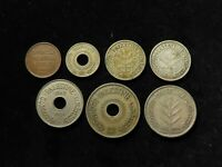 PALESTINE COLLECTION OF 7X COINS 1927 40 INCLUDING SILVER