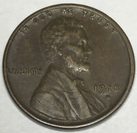 1918-D LINCOLN HEAD CENT EXTRA FINE  CCC1066