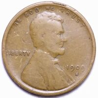 1909-S LINCOLN WHEAT CENT PENNY CHOICE FINE SHIPS FREE E854 RFM