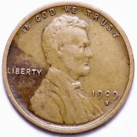 1909-S LINCOLN WHEAT CENT PENNY CHOICE VF SHIPS FREE E867 TFM
