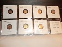 CALIFORNIA FRACTIONAL GOLD 1/2 DOLLAR PIONEER COLLECTION LOT