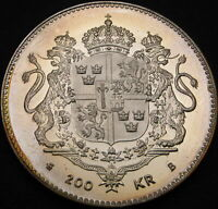 SWEDEN 200 KRONOR 1996 PROOF   SILVER   KING'S BIRTHDAY   2781