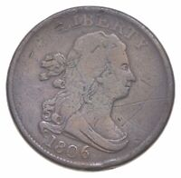 1806 DRAPED BUST HALF CENT   WALKER COIN COLLECTION  691